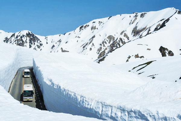 立山黑部雪牆